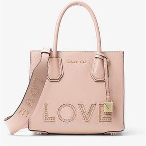 Michael Kors Bags - MICHAEL KORS Love Studded Leather Shoulder Strap
